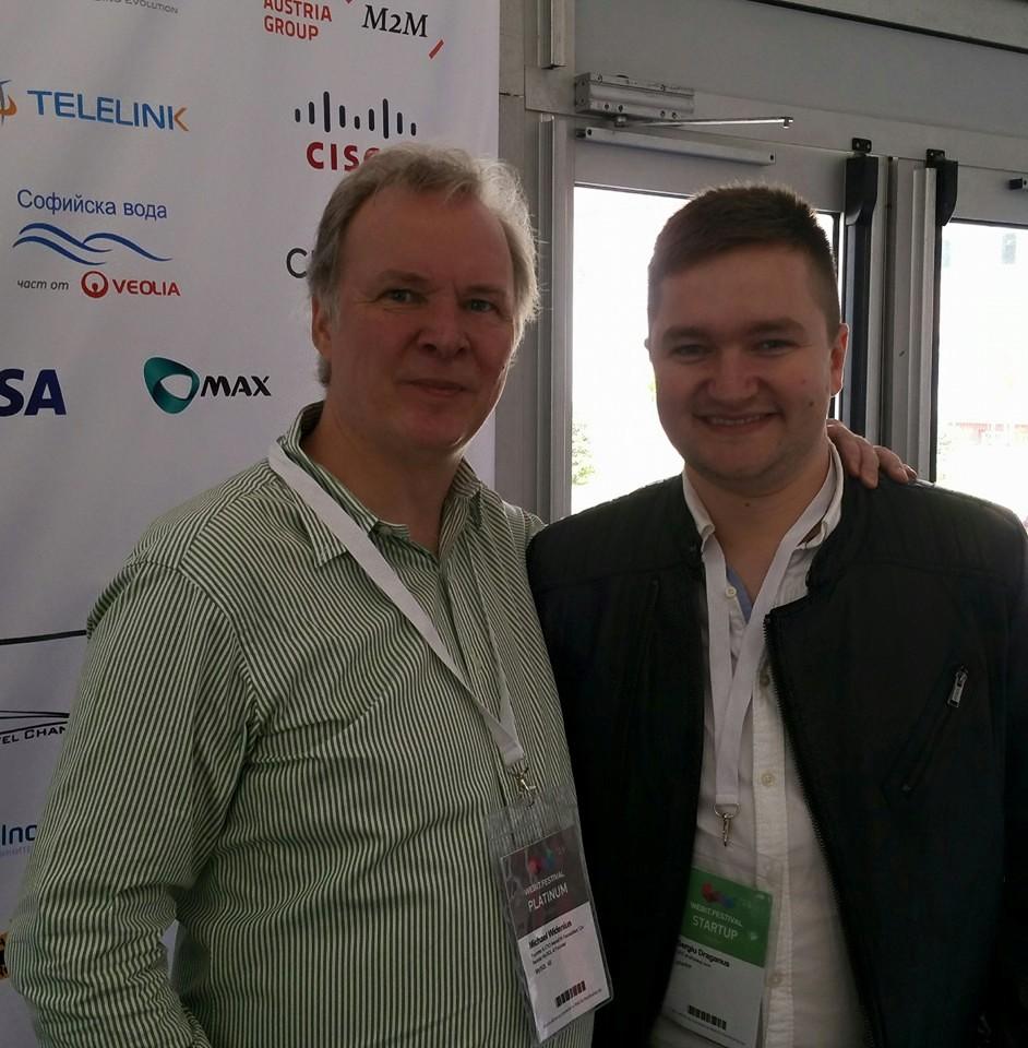 Michael Widenius creator of MySQL and Sergiu Draganus founder of eRanker