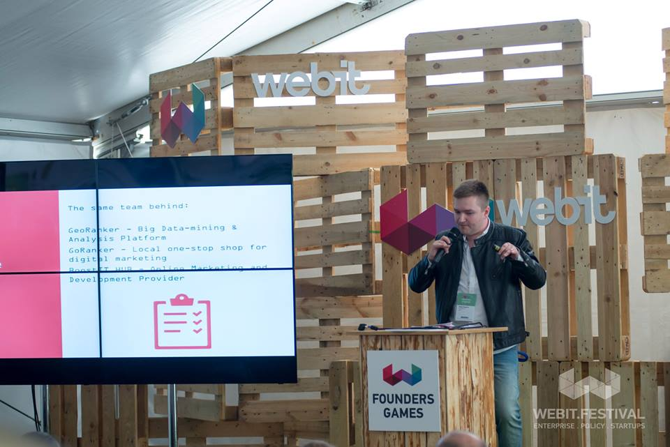 Sergiu Draganus with eRanker at WebIT Sofia 2016